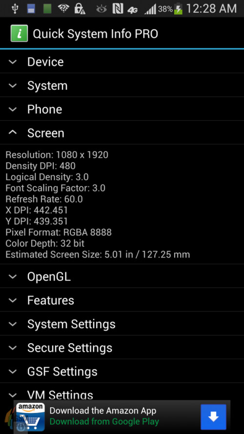 Leaked Samsung Galaxy S IV screenshots confirm 13 MP camera and 1.8 GHz CPU