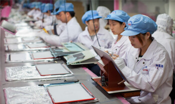 An assembly line in China