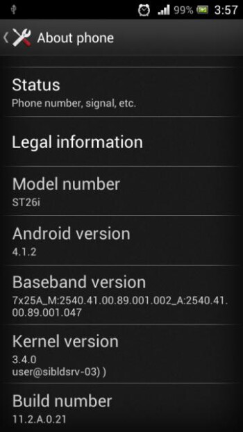 The Sony Xperia J is getting updated to Android 4.1.2