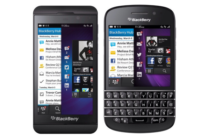 The BlackBerry Z10 (L) and the BlackBerry Q10 - BlackBerry CEO and analyst disagree on the strength of the BlackBerry Z10's start