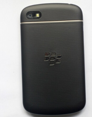 BlackBerry Q10 with rubberized back