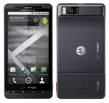The Motorola DROID X is one of the phones named in the suit as infringing on Apple's patent