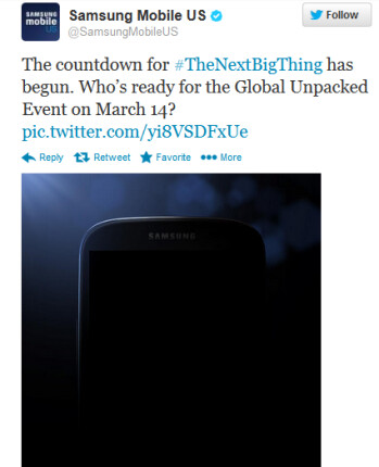 The tweet from Samsung