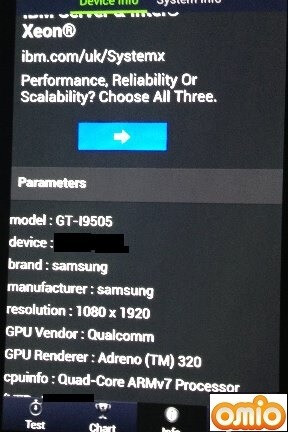 UK-bound Samsung Galaxy S 4 gets benchmarked, specs revealed