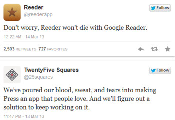 Reeder and Press promise to carry on without Google Reader