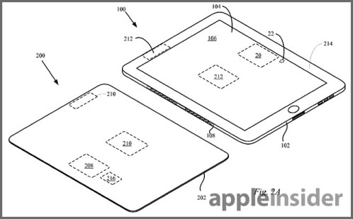 From Apple's patent for wireless charging using the Smart Cover