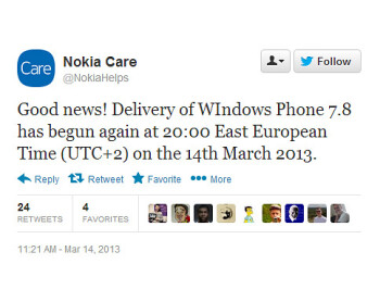 Windows Phone 7.8 update resumes, won't cause live tile issues