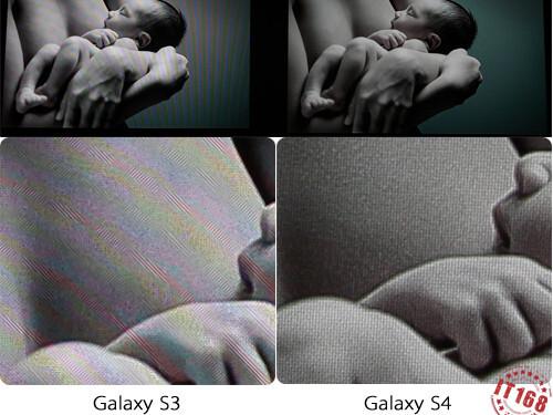 Xperia Z on the left vs Galaxy S III vs Galaxy S 4 on the right screen comparison