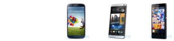 Samsung Galaxy S 4 vs HTC One vs Sony Xperia Z specs comparison