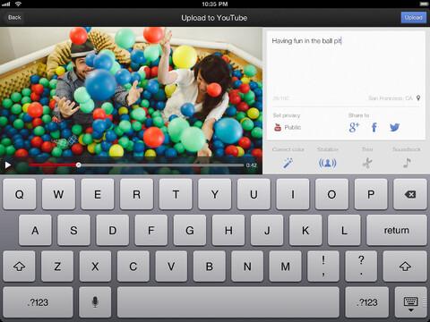 YouTube Capture screenshots for the Apple iPad