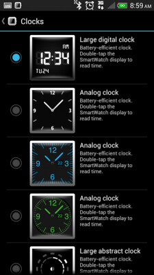 Seven new interfaces are available for the Sony SmartWatch