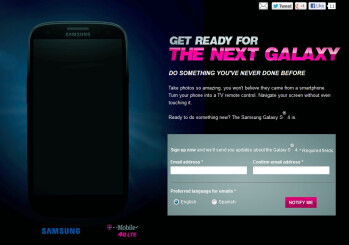 AT&T and T-Mobile post Galaxy S 4 signup pages