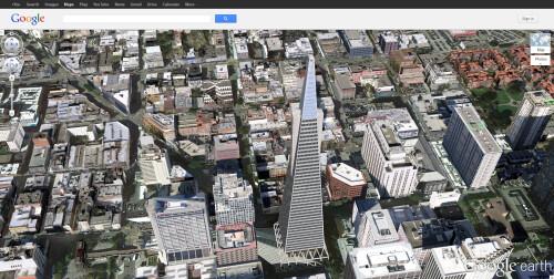 Google Earth in San Francisco