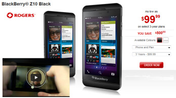 In Canada, the BlackBerry Z10 has received a big price cut