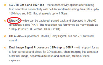 Qualcomm says the Snapdragon 800 can do 4K HD Video