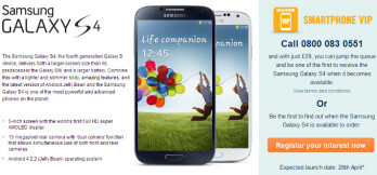 Samsung Galaxy S 4 logs record pre-regs with Carphone Warehouse, four times the S III