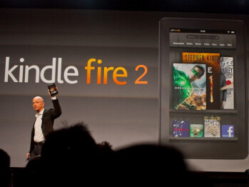The Amazon Kindle Fire 2 introduced by Jeff Bezos