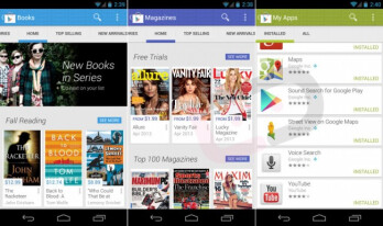Leaked screenshots of the new Google Play app