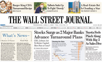 The WSJ app is now ready for BlackBerry 10