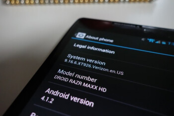 Android 4.1.2 is rolling out to the Motorola DROID RAZR HD and the Motorola DROID RAZR MAXX HD