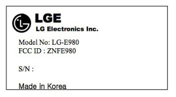 The LG E980 just visited the FCC