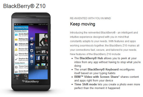 AT&T is now offering the BlackBerry Z10