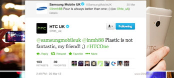 HTC and Samsung UK branches duke it out on Twitter: 'plastic is not fantastic, my friend'