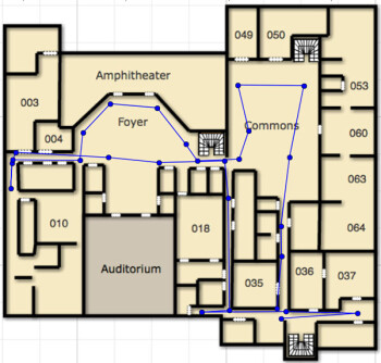 WifiSLAM's indoor positioning data