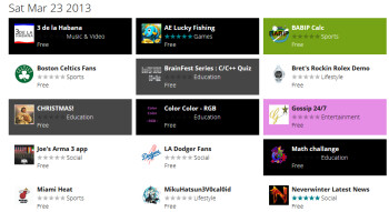 Apps added yesterday to the Windows Store