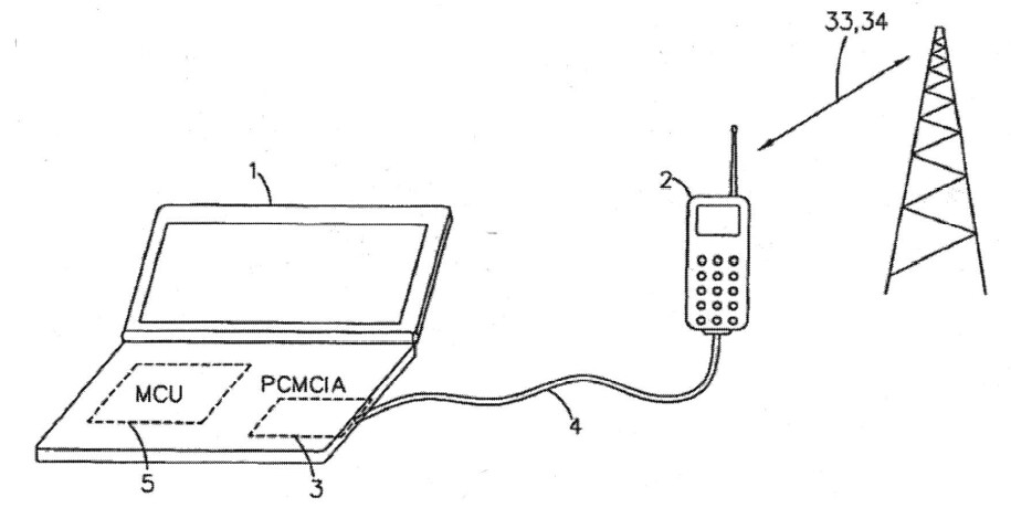 Diagram from Nokia's patent - Judge's ruling on patent interpretation could lead to a ban on Android tethering