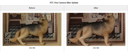 Comparing pictures taken by the HTC One before and after a firmware update