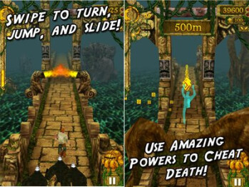 Temple Run landing on Windows Phone today