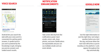 Three of the important features of the Android 4.1 update