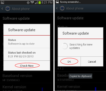 The update can be manually downloaded and installed