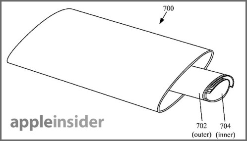 Apple's patent application for a device with a wrap-around screen