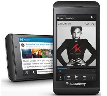 One million BlackBerry Z10 units were shipped last quarter