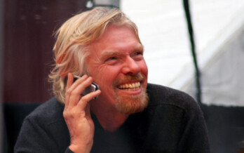 Virgin's Richard Branson is testing a video game for movie theaters
