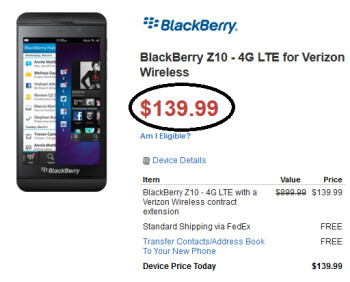 Walmart is selling the BlackBerry Z10 for a 30% discount