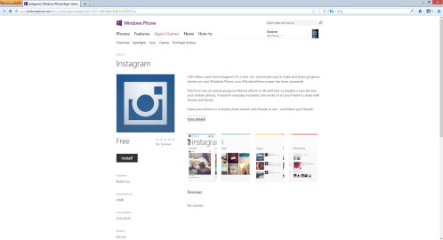 Instagram for Windows Phone...not