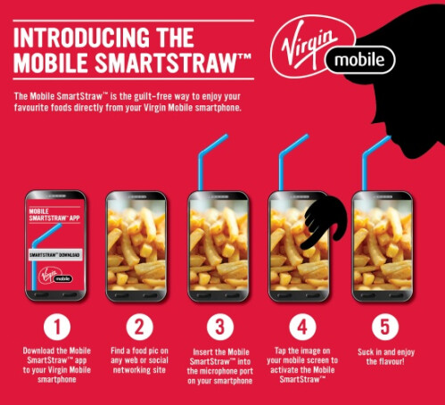 "Virgin Mobile exclusively launches the ""Mobile SmartStraw"""