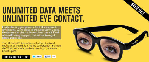 Sprint Specs: Unlimited data, unlimited eye-contact