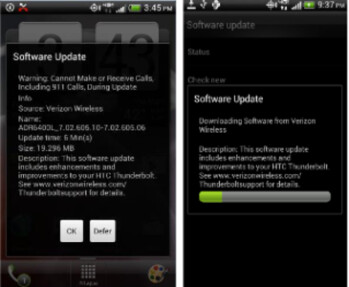 An OTA update is coming to the HTC ThunderBolt