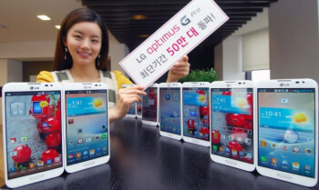 The LG Optimus G Pro has sold 500,000 units in 40 days in Korea