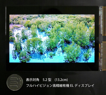 "JDI develops 5.2"" Full HD OLED display with Sony's WhiteMagic technology"
