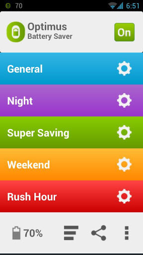 Optimus Battery Saver is your new color-coded juice preservation app for Android
