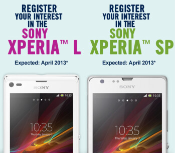 Sony Xperia SP and Sony Xperia L coming soon