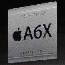 The Apple A6X is used on the fourth iteration of the Apple iPad