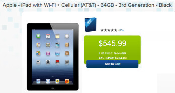 Save over $200 at Best Buy on the 64GB third-gen iPad