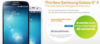The Samsung Galaxy S4 will start at $199.99 on contract via AT&T