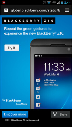 You can satisfy your curiosity about BlackBerry 10 with this promotion